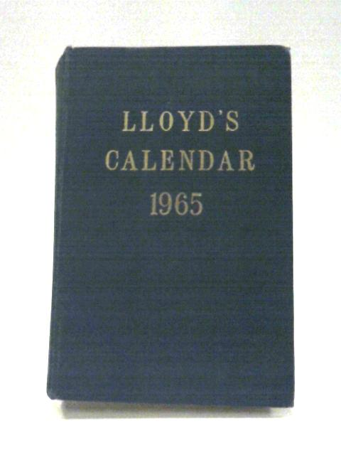 Lloyds Calendar 1965 By Anon