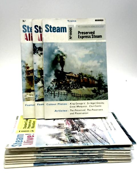 Steam Alive Complete Set Issues No 1 to 12 by Editor P.B Whitehouse