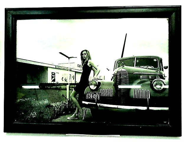 Framed Photo of unknown female. By Unknown