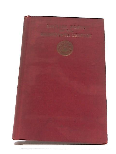 English Poets of The Eighteenth Century by Ernest Bernbaum
