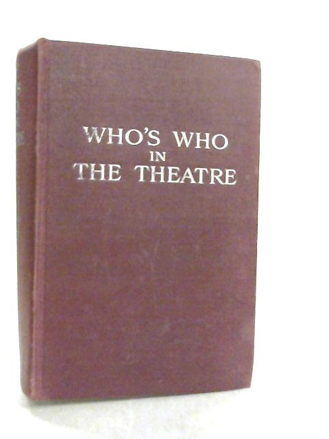 Who's Who In The Theatre by Gaye Freda Editor