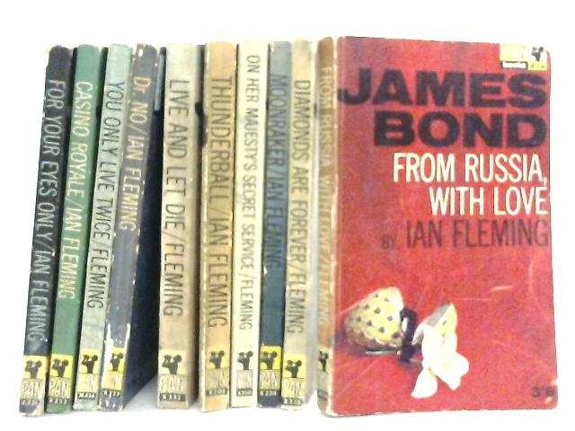 Set of 10 James Bond Novels by Ian Fleming