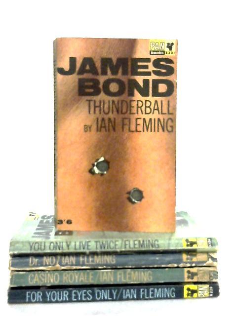 Set of 5 James Bond Novels by Ian Fleming