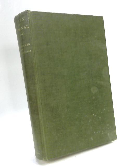 Cases on Criminal Law by J W C Turner