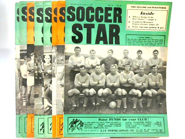 Soccer Star Magazine x 8 Issues Various Dates Jan-Mar 1967 by Anon