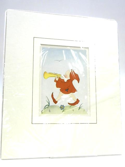 Framed Illustrated Figure Print by Anon