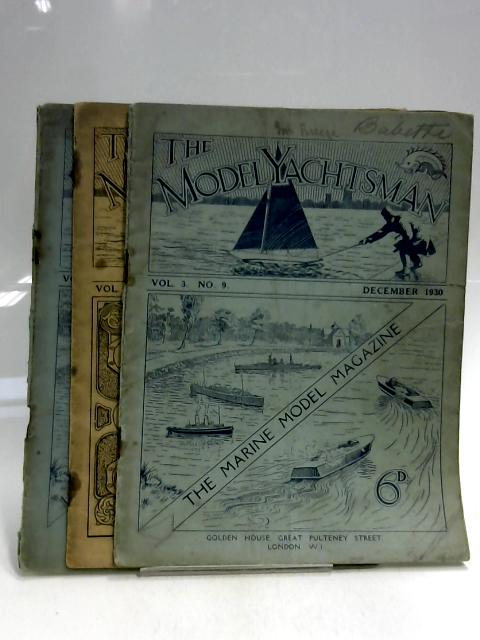 Set of 3 Volumes of The Model Yachtsman by Anon