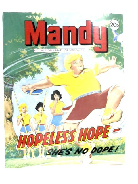 MANDY Hopeless Hope She's No Dope! No. 75 by D.C. Thomspn