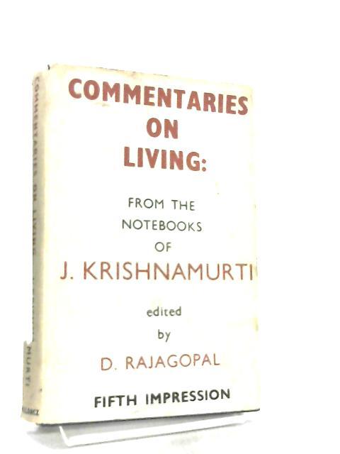 Commentaries on Living - Second Series by J. Krishnamurti