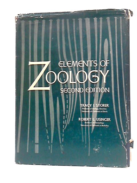 Elements of Zoology. Second edition (McGraw-Hill Publications in the Zoological Sciences.) By Tracy Irwin Storer
