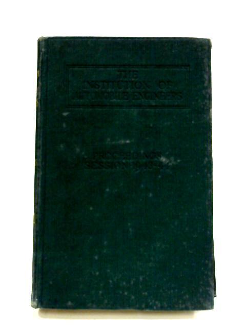 Proceedings: Volume XXXVIII Session 1943-44 By Anon