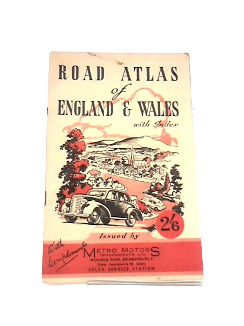 Road Atlas of England & Wales with Index By Unknown