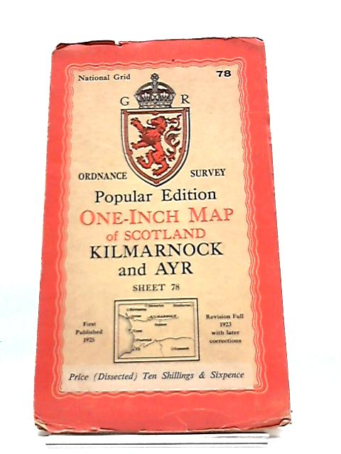 Ordnance Survey One Inch Sheet 78 Kilmarnock And Ayr By Ornance Survey