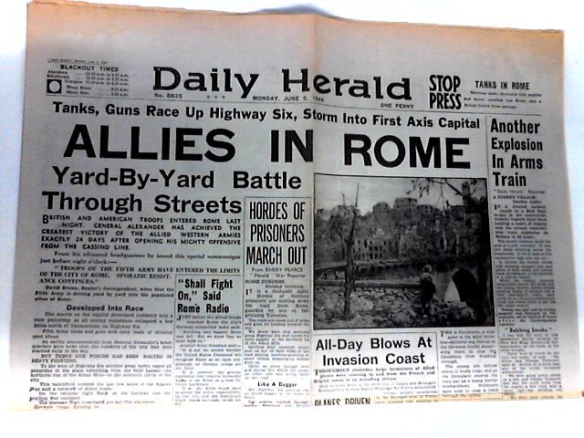 Daily Herald Dated Monday June 5th 1944 by Unknown