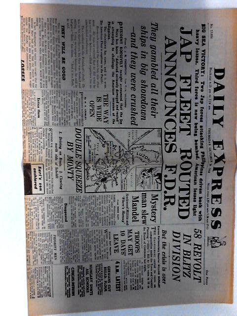 Daily Express Dated Thursday October 26th 1944 by Unknown