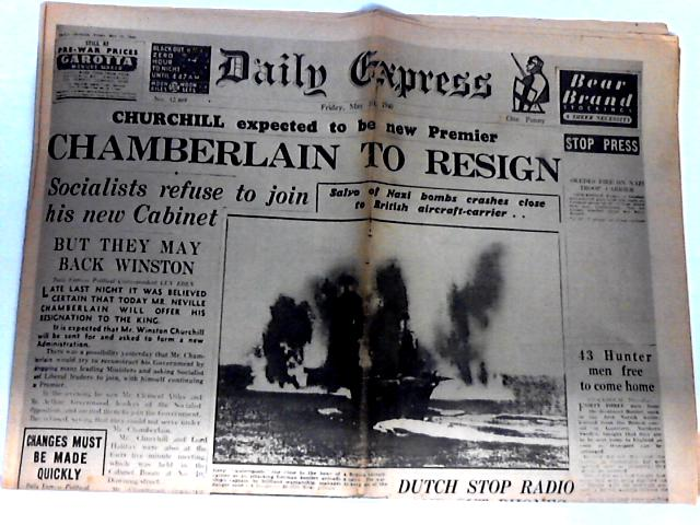 Daily Express Dated Friday May 10th 1940 by Unknown