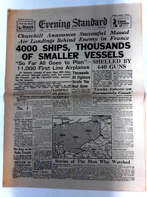 Evening Standard Dated Tuesday June 6th 1944 D Day Landings Invasion. by Unknown