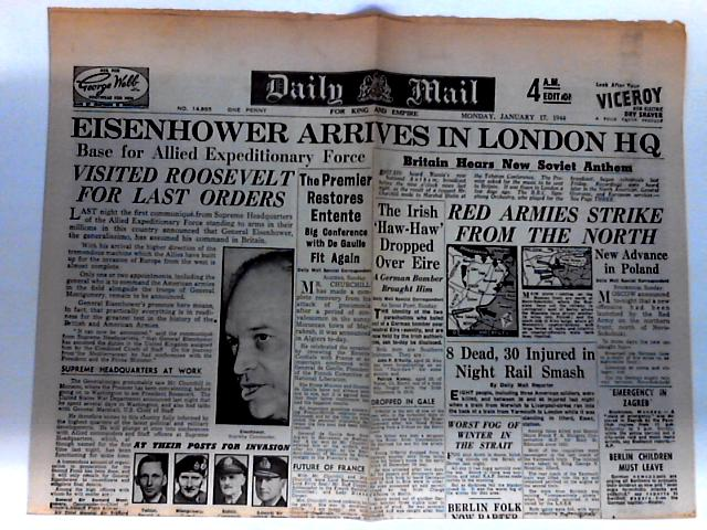 Daily Mail Dated Monday January 17th 1944 by Unknown