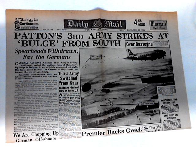 Daily Mail Dated Friday, December 29th 1944 by Unknown