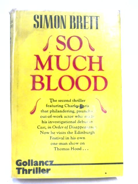 So Much Blood; A Crime Novel By Simon Brett