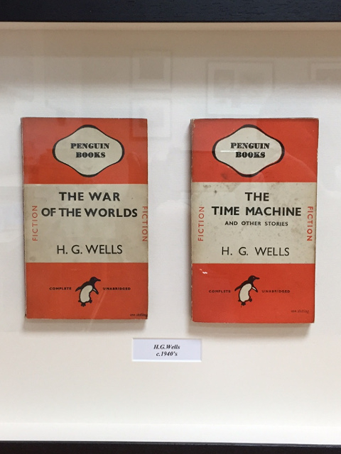 Framed Vintage Penguin Books - Two H. G. Wells Novels: The Time Machine, and The War of the Worlds by H. G. Wells