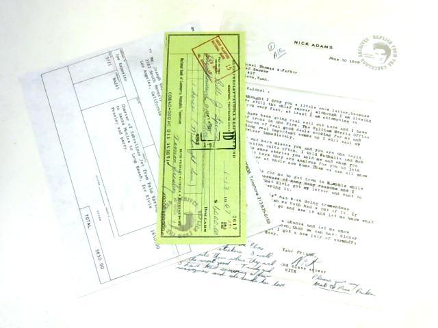Elvis Presley Replica Documents By None