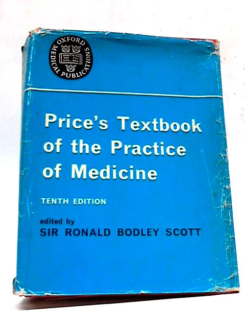Price's Textbook On The Practice of Medicine By Scott
