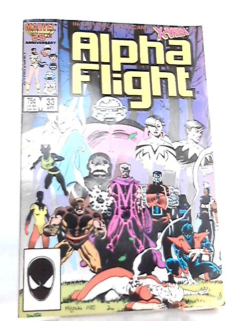 Alpha Flight Vol 1 No. 33 April 1986 by Bill Mantlo et al