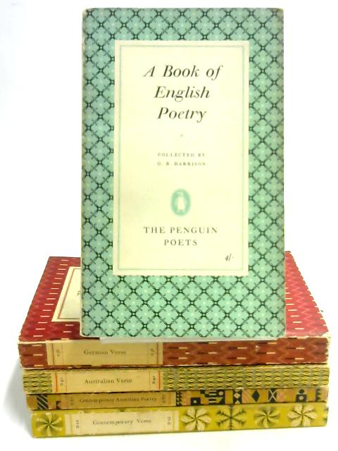 5 Penguin Books of Verse and Poetry by Various
