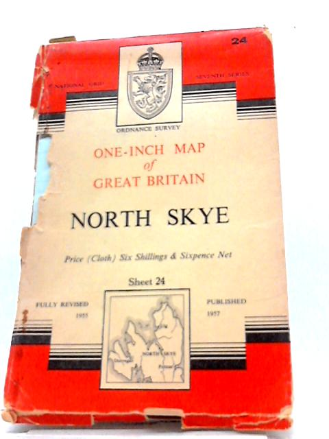 One-Inch Map Of Great Britain: North Skye, Sheet 24 by Ordnance Survey