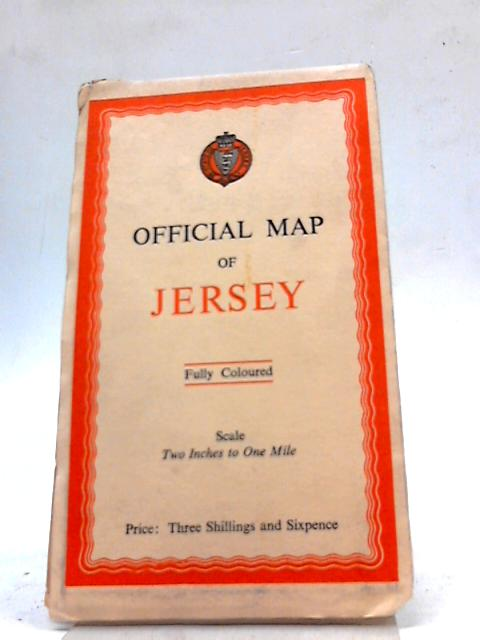 Official Map of Jersey Two Inches to One Mile - Fully Coloured By BKS Air Survey