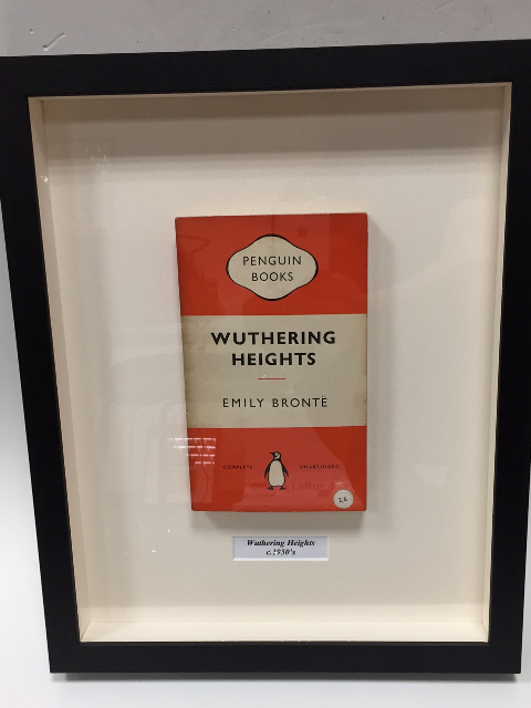 Framed Vintage Penguin Book - Wuthering Heights by Emily Bronte by Emily Bronte