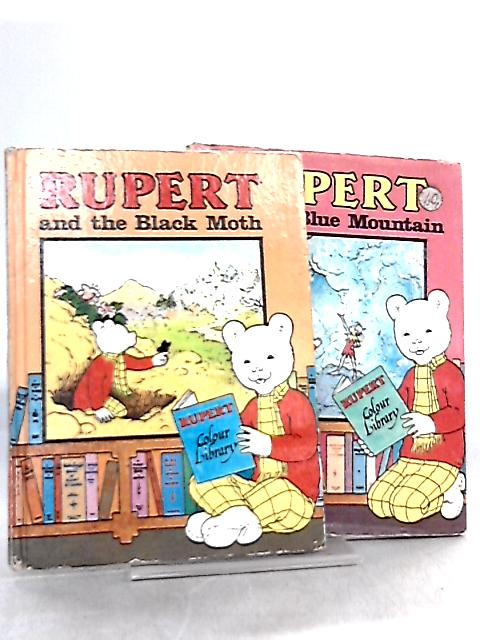 2 Rupert Colour Library Books, Rupert and the Blue Mountain & Rupert and the Black Moth by Alfred Bestall