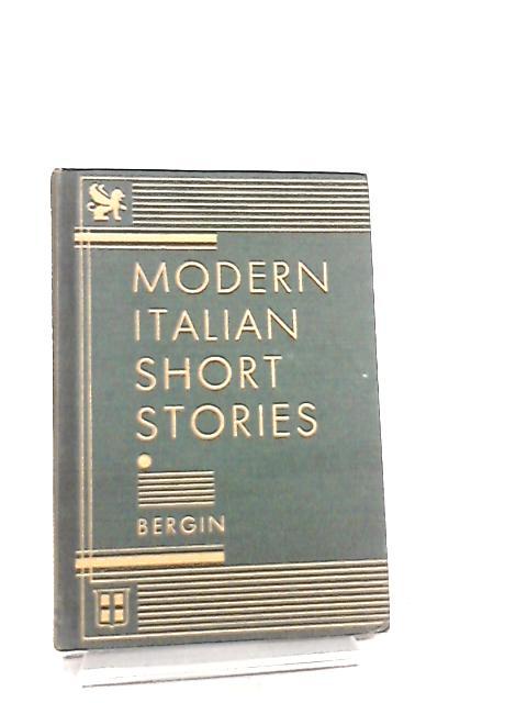 Modern Italian Short Stories (The Heath-Chicago Italian series) by Thomas Goddard Bergin