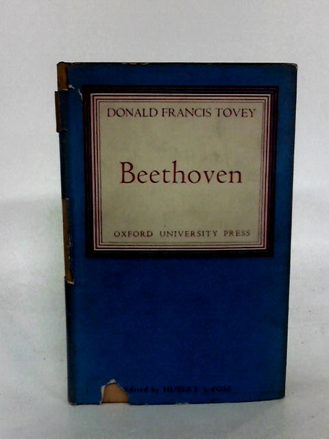 Beethoven by Tovey, Donald Francis.
