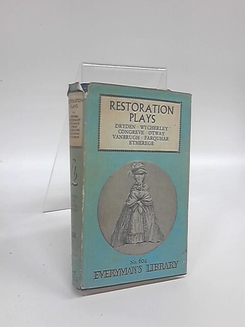 Restoration Plays by Sir Edmund Gosse