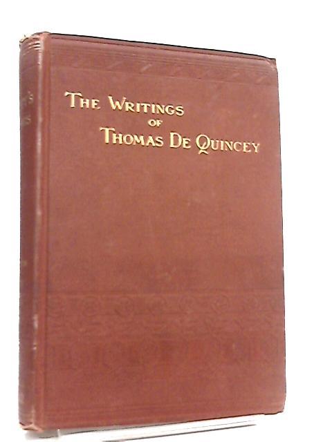 The Works of Thomas De Quincey Vol V by Thomas De Quincey