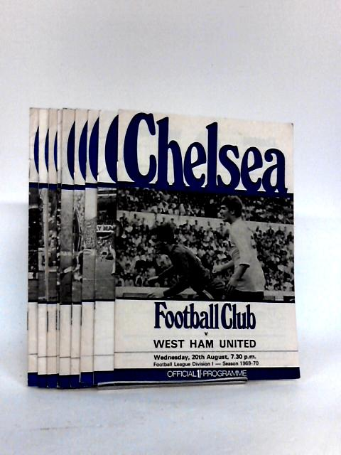 Chelsea Football Club Match Programme`s From 1969 to 1970. By Chelsea Football & Athletic Co