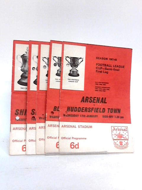 Arsenal Football Club FA and League Cup Programme`s from 1967 to 1968. by Unknown