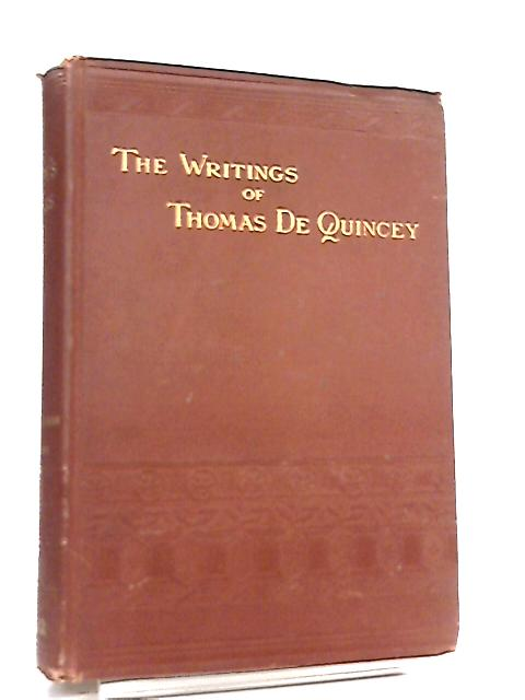 The Works of Thomas De Quincey Vol VIII by Thomas De Quincey