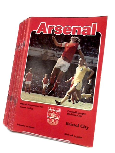 Arsenal Football Club Match Day Programme`s 1978 to 1979. by Arsenal Football Club