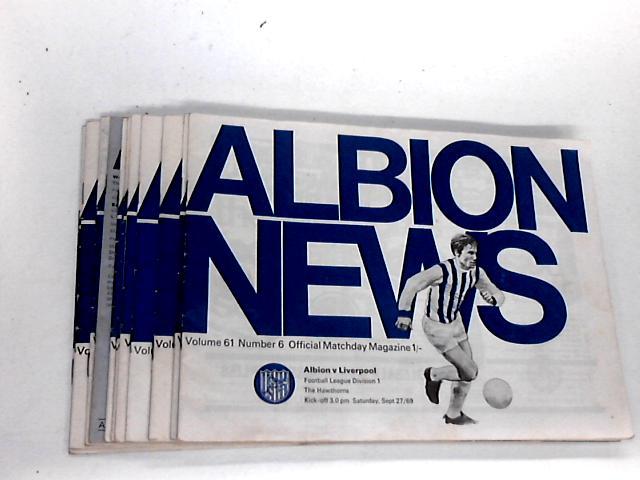 West Bromwich Albion Football Club Match Day Programme`s From 1969 to 1970. By West Bromwich Albion Football Club