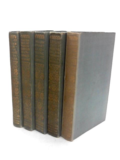 Collection of Five Biographies -Bronte, Napoleon, Gladstone, Mahomet, Charles of ~Sweden by Gaskell, Lockhart, Russell, Irving, Voltaire