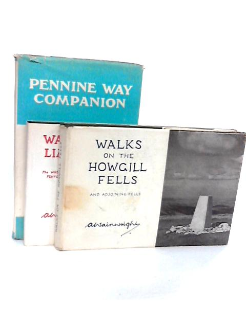 Collection of Three Wainwrights ' Walks' Books - Limestone, Howgill Fells, Penine Companion. by A Wainwright