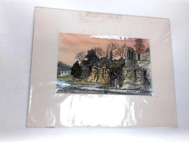 Pictorial Framed Print 23cm by 19cm. By Roche Abbey