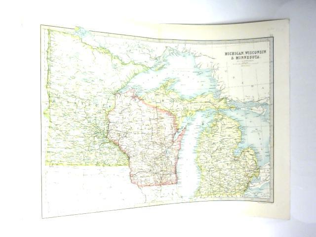 Michigan And Wisconsin Map.Map Of Michigan Wisconsin Minnesota J Bartholomew 1111 Id