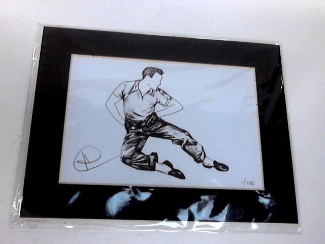 """Framed Print """"Dancing Gene"""" In The Movies 16cm by 20cm. By Unknown"""