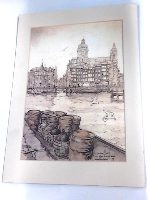 """Framed Print of """"Dock Front"""" 25cm by 35cm. By Unknown"""