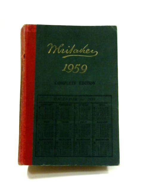 Whitaker's Almanac 1959 by Anon