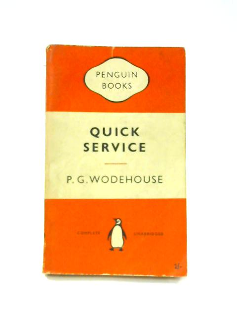 Quick Service - Framed Vintage Penguin Book by P.G. Wodehouse